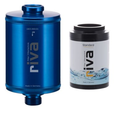riva-DUSCH-filter-SET-KARTUSCHE-STANDARD-haut-haarpflege-mineralien-chlor-filter-schadstoffe-kalk-blau