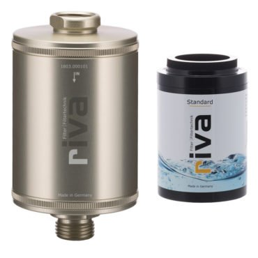 riva-DUSCH-filter-SET-KARTUSCHE-STANDARD-haut-haarpflege-mineralien-chlor-filter-schadstoffe-kalk-champagner