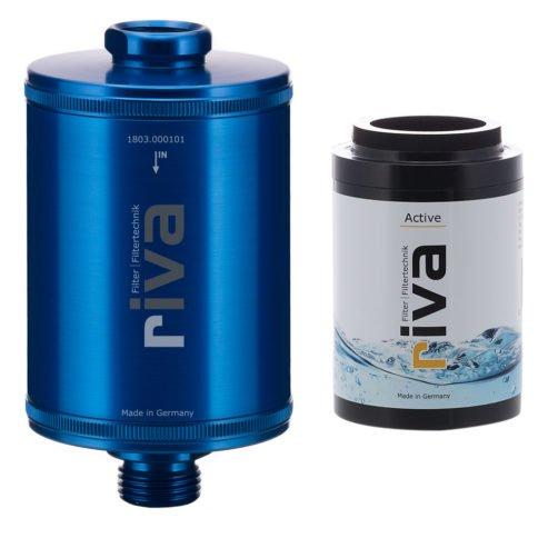 riva-trinkwasser-filter-active-chlor-schwermetalle-geruch-kdf-filter-aktivkohle-Spüle-wasserhahn-leitungswasser-filter-blau