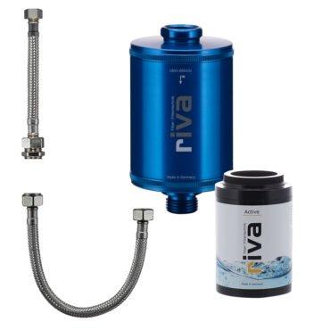 riva-trinkwasser-filter-active-set-chlor-schwermetalle-geruch-kdf-filter-aktivkohle-Spüle-wasserhahn-leitungswasser-filter-blau-anschluss-set