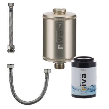 riva-trinkwasser-filter-active-set-chlor-schwermetalle-geruch-kdf-filter-aktivkohle-Spüle-wasserhahn-leitungswasser-filter-champagner-anschluss-set