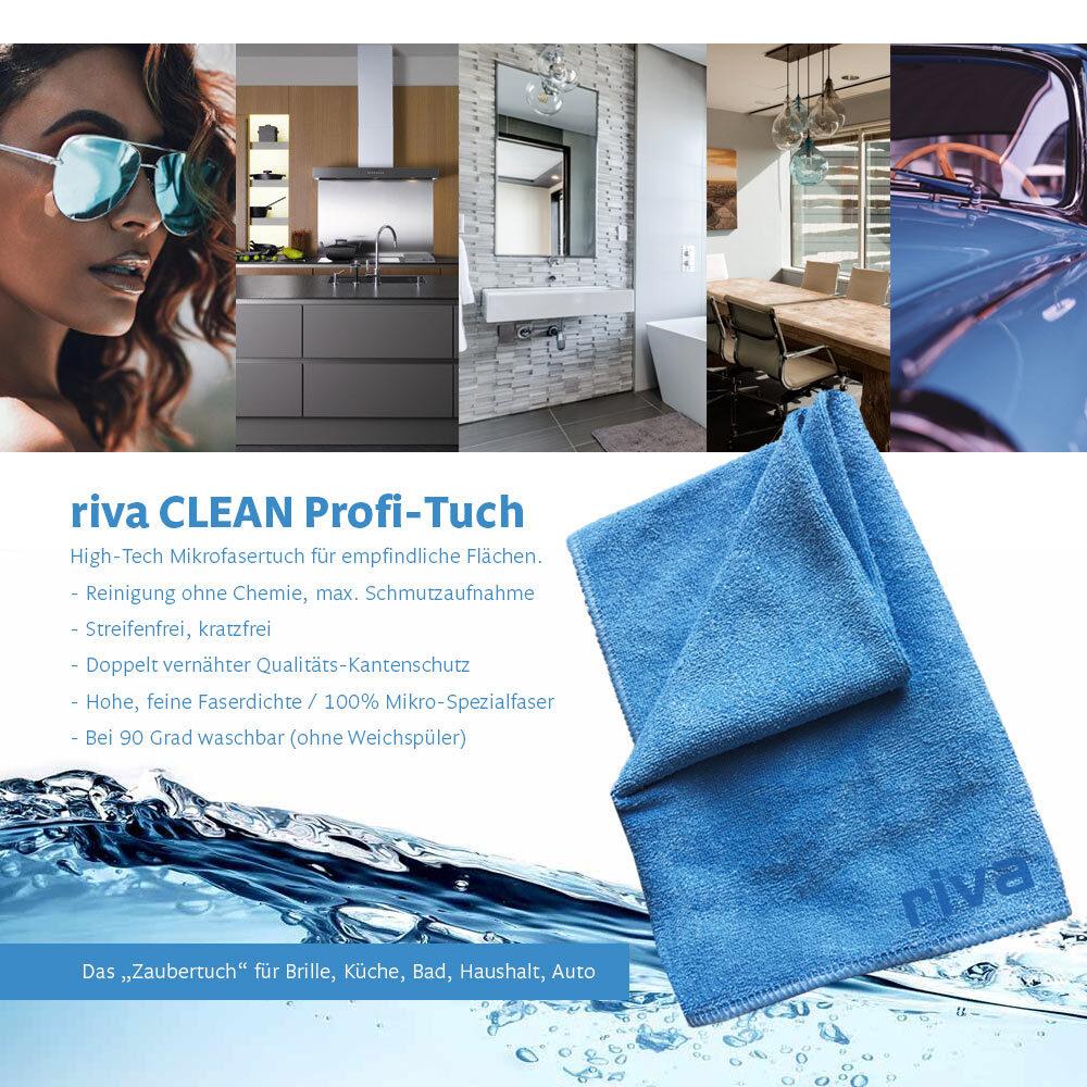 riva-Filter-Clean-Mikrofasertuch-Reinigung für Brillen, Haushalt, Küche, Bad-Auto-boot-reisemobil-camping