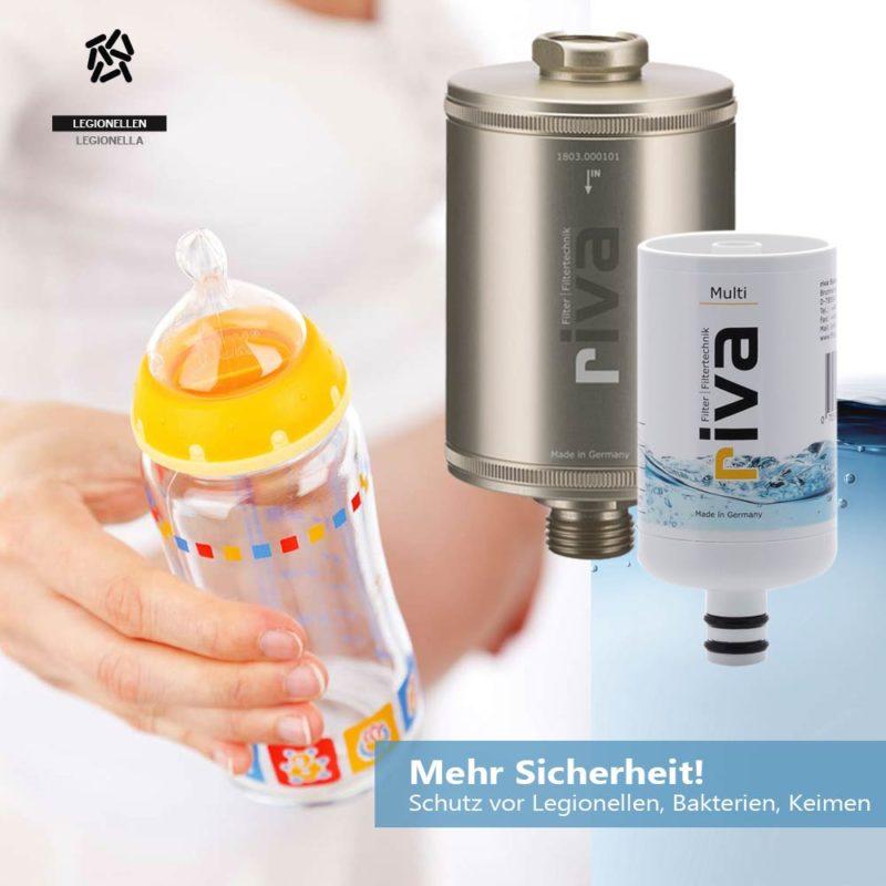 riva dusch filter set multi legionellen babyflaschen