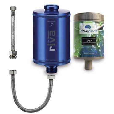 riva-alva-life-trinkwasser-filter-set-bioganisch-silber-schlauchanschluss-set-küchenspüle-blau
