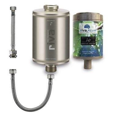 riva-alva-life-trinkwasser-filter-set-bioganisch-silber-schlauchanschluss-set-küchenspüle-champagner