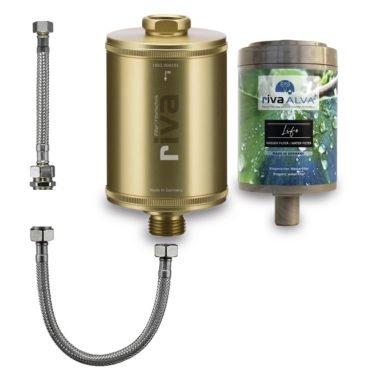 riva-alva-life-trinkwasser-filter-set-bioganisch-silber-schlauchanschluss-set-küchenspüle-gold
