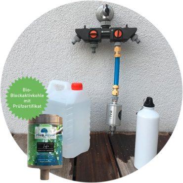 rivaALVA-Explorer-Trinkwasserfilter-Reisemobil-Boote-Vans-Wohnwagen-mobil-bio-Aktivkohle-plastikfrei-Wasserhahnfilter