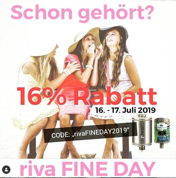 rivaFINEDAY2019_Gutscheinaktion-Juli-2019-Prime-16% Rabatt