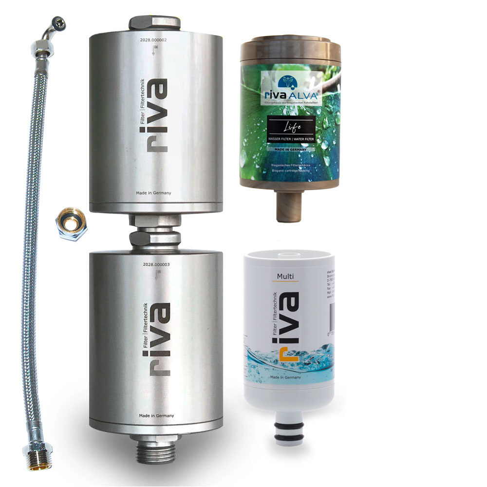 Doppelfilter Trinkwasserfilter rivaALVA-Life-Safe-Pro-